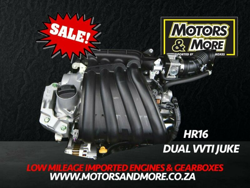 Nissan Juke Dual VVTi HR16 1.6 Engine For Sale No  Trade in Needed