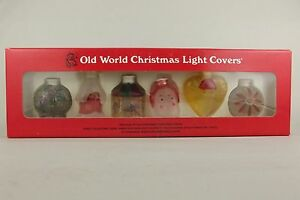 image is loading 6 old world glass christmas light covers mib