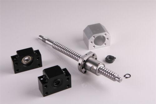CNC Ballscrew SFU1605 L = 250MM-1050MM C7 /& BK//BF12 soporte integral /& ballnut vivienda