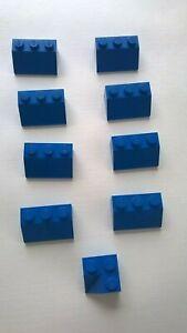 Lego-VINTAGE-ROOF-Blocks-x-9-1950s-1960-039-s-Blue