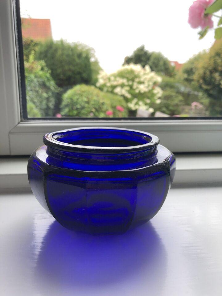 Glas, Skål til f.eks slik 10 cm høj 15 cm bred