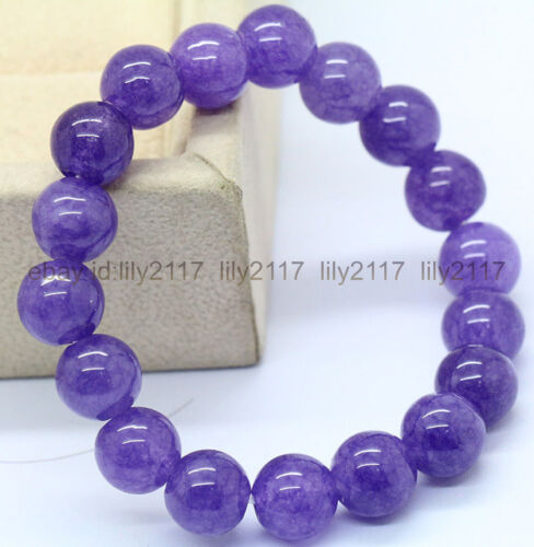 AAA 10 mm violet dragon Agate Round Beads Stretch Bracelet 7.5/""