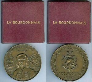 Medaille-de-table-La-BOURDONNAIS-Compagnie-Messagerie-Maritimes-1953-BARON-boi