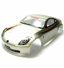 H005W 1/10 Scale Drift On Road Touring Car Body Cover Shell RC Grey + Spoiler