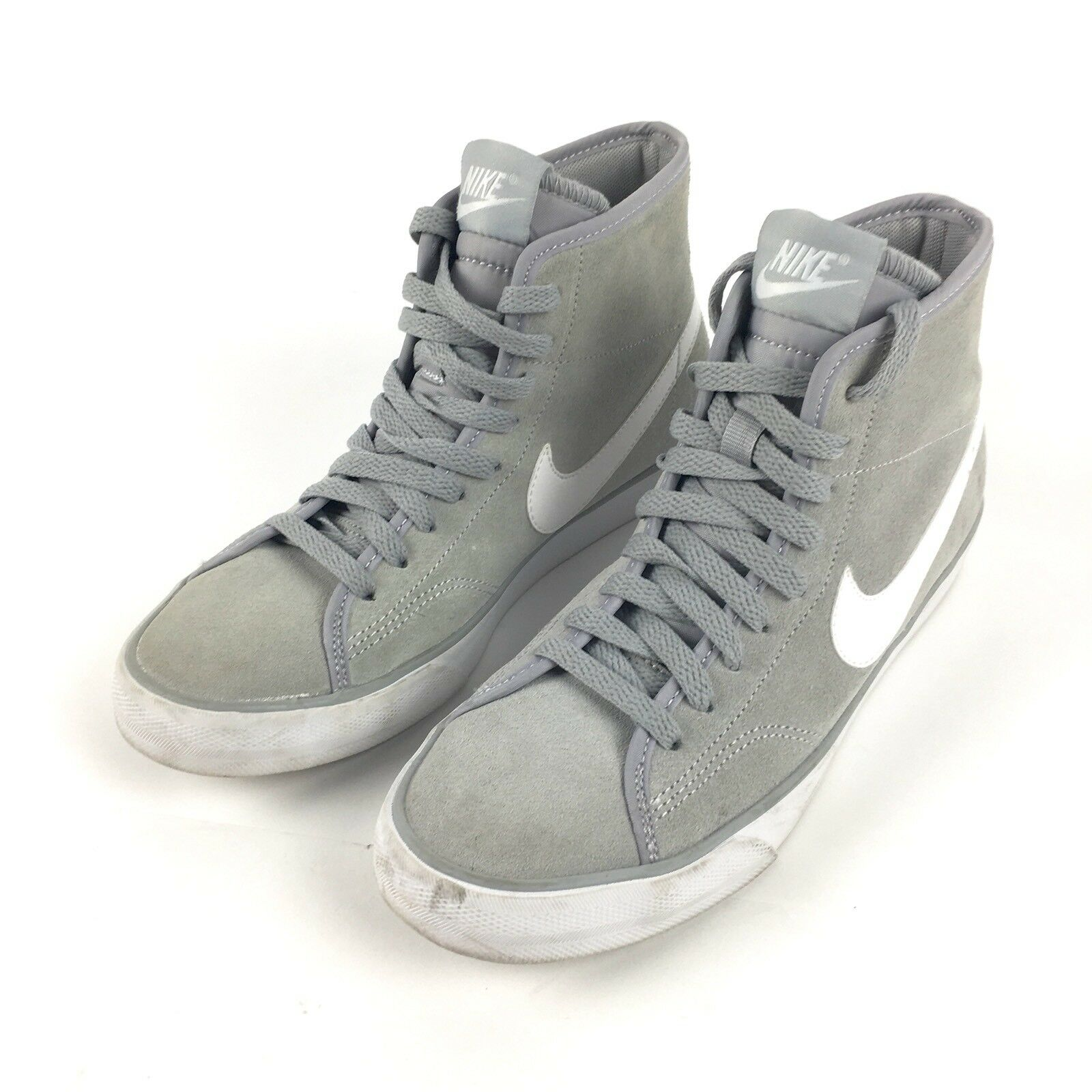 Nike Primo Court Women's 6 Grey Suede Athletic Fashion Sneakers 630656-010 Wild casual shoes