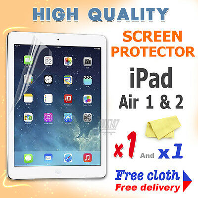 1 Nuova Alta Qualità Schermo Protettivo Protezione Film Lamina Per Apple Ipad Air 1 2- Fresco In Estate E Caldo In Inverno