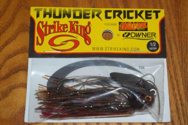 Strike King Tcvsj12-135 Thunder Cricket Falcon Craw FW Jig Fishing Lure for sale online