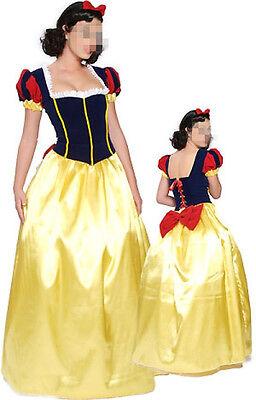New Fashion Fairy Tale Snow White Princess Ladies Women fancy dress costume