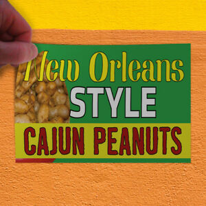Decal Sticker New Orleans Style Cajun Peanuts #1 Food /& Beverage Store Sign