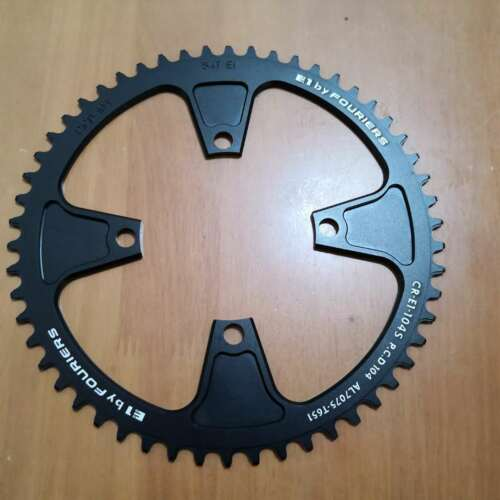 Fouriers Single Chainring BCD104 Narrow wide Big Ring 50T 52T 54T Black