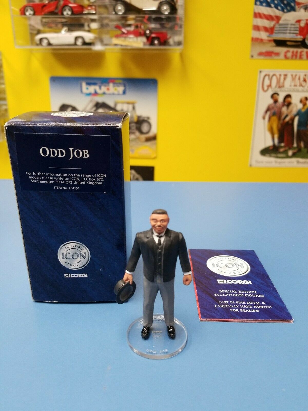 CORGI JAMES BOND 007  ODD JOB   FIGURE FIGURE FIGURE  ICON COLLECTION  NEW a7b6ee