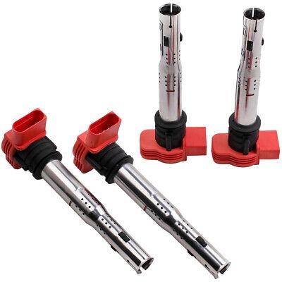 4X Double Iridium Spark Plugs pour SEAT LEON 2.0 TFSI 2005-2010