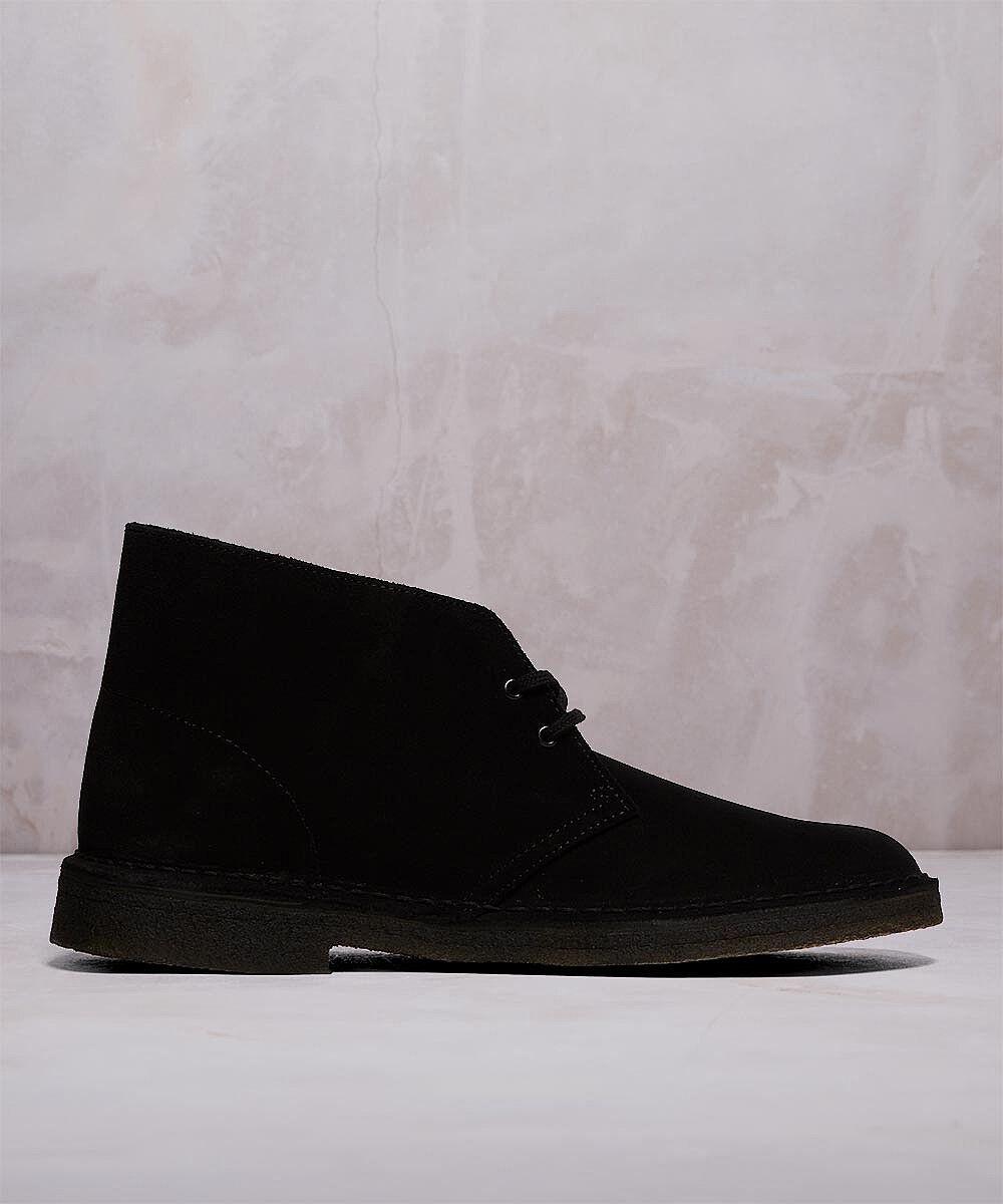 Clarks Originals Mens Desert Boot  Black Suede  UK 7 - NEW IN BOX