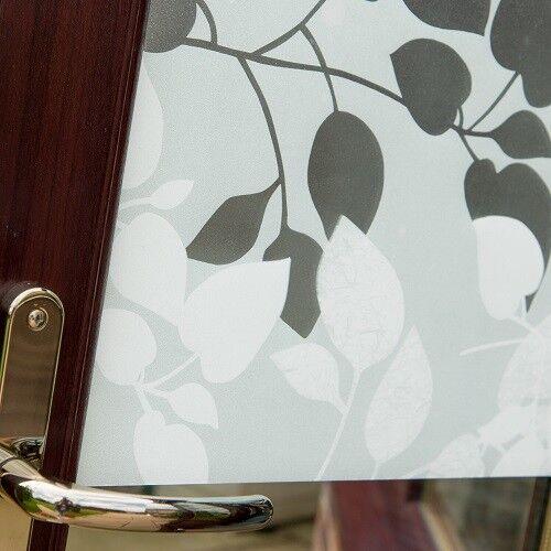 D-c-fix Premium Static Cling Vinyl Window Film Privacy Leaves Amena 67.5cm x 10m