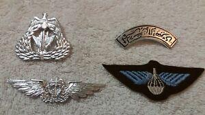 Kuwait-Air-Force-Hat-Badge-Flight-Wings-Para-Patch-Shoulder-Set-Desert-Storm