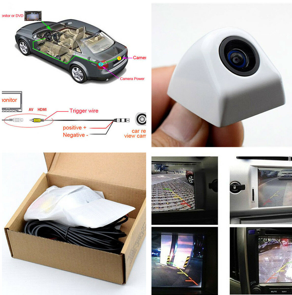 12V 170 Degree Snap-in design NTSC Car Rear View Back Up Reverse Parking Camera