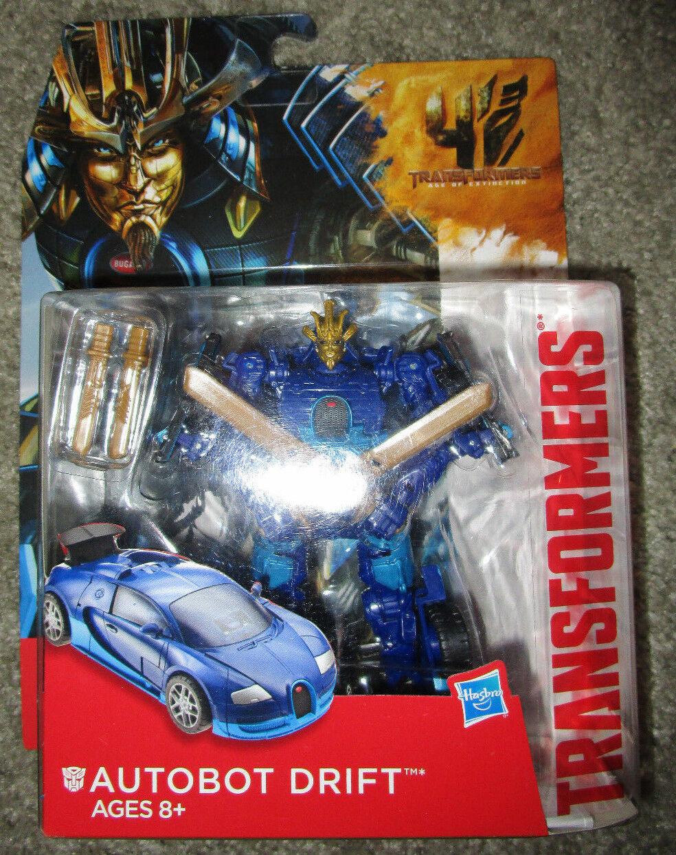 Transformers AGE OF EXTINCTION Deluxe Class Figure AUTOBOT DRIFT BUGATTI MODE