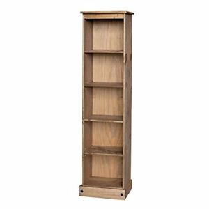 Corona-Bookcase-Tall-Narrow-Large-Display-Mexican-Pine-by-Mercers-Furniture
