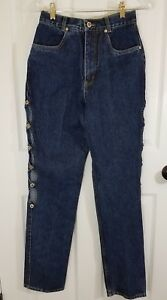 Lawman-Western-Jeans-Juniors-Vtg-Relaxed-Fit-Autry-Style-Peep-Hole-Side-NWT-3-4