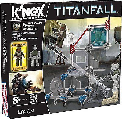 K/'nex Titanfall MCOR Pilot Attack Building Set 93 PC
