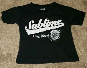 Sublime Sun White Toddler Baby T Shirt New Official Long Beach Kids