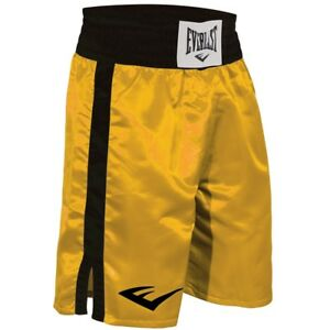 Everlast Standard Bottom of Knee Boxing Trunks - Large - Gold/Black