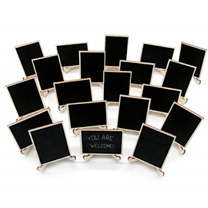 20-Pack-Wood-Mini-Chalkboards-Signs-Support-Easels-Place-Cards-Small-Rectangle