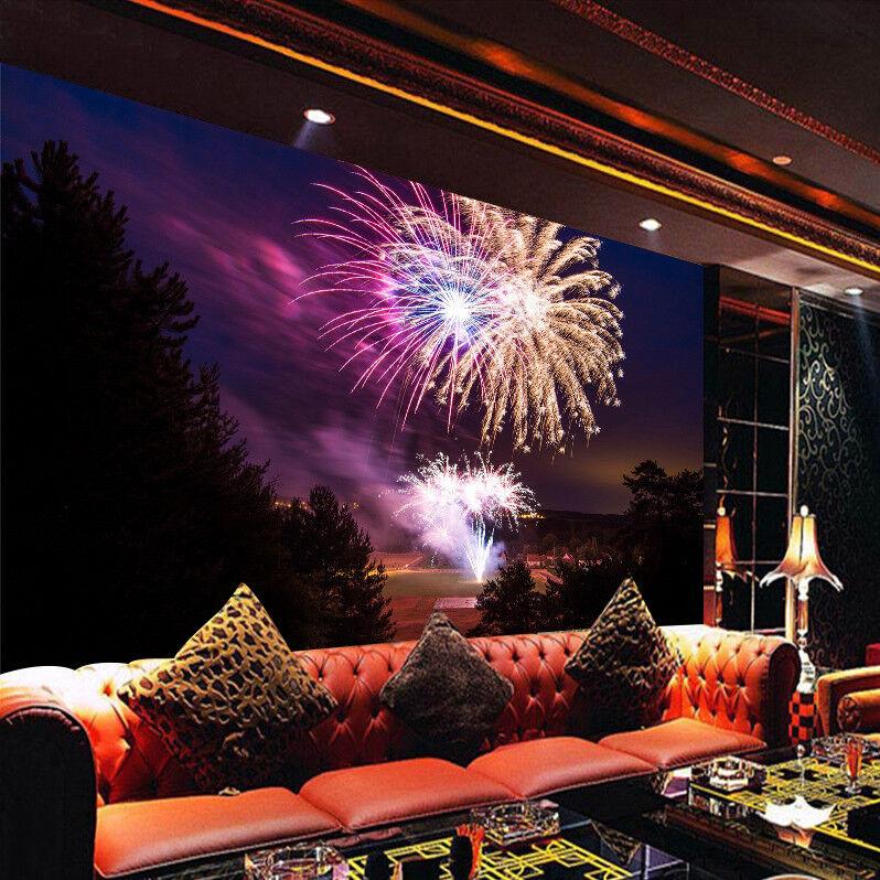 3D Fireworks Night 86 Wall Paper Murals Wall Print Wall Wallpaper Mural AU Kyra