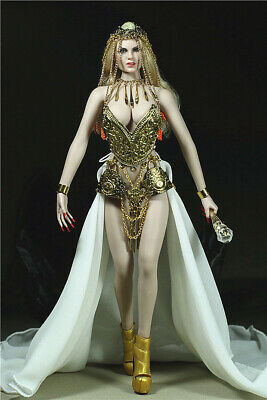 1//6 Queen of Egypt Costume Set Alloy Corset Long Dress Fit 12in PH Figure Doll