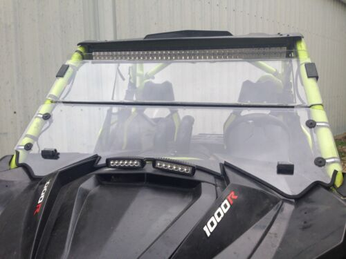 "2013-2018 Can AM Maverick Max 1000r 3//16 /"" POLYCARBONATE FOLD DOWN  Windshield"