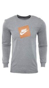 b5c0fbda Nike Men's Futura Shoebox Sportswear Logo Long-Sleeve T-Shirt AJ3873 ...