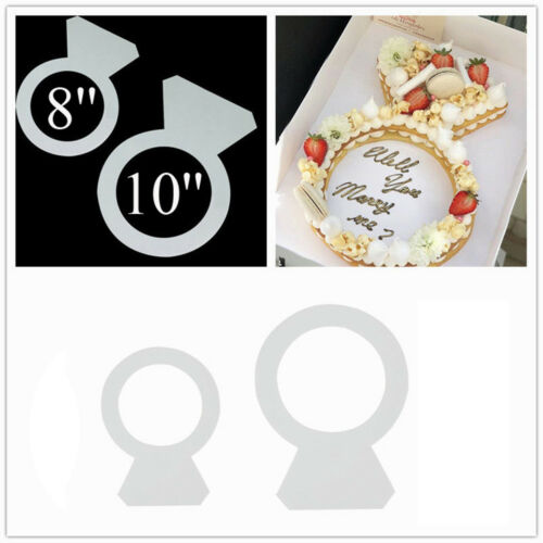Diamond Ring Cake Mould Valentine/'s Day Pastry Tool Fondant Sugarcraft Chocolate