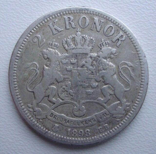 Sweden 2 Kronor 1898 For Sale Online Ebay