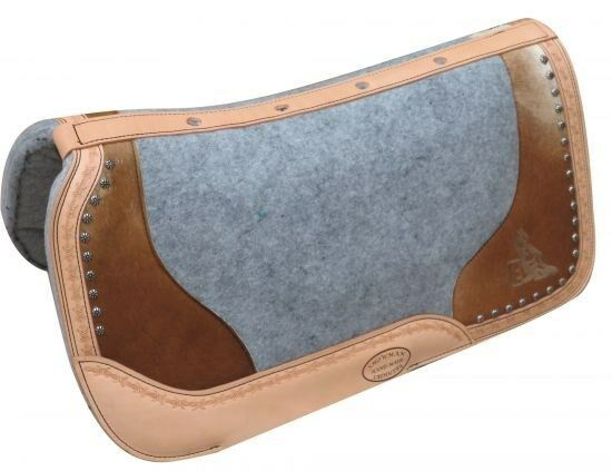 Showman 24x24 PONY argentoina Cow Leather Saddle Pad w Etched Barrel Racer NEW