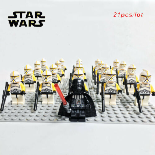 Star Wars 21x set Stormtrooper Clone Trooper ejército minifiguras figuras película nuevo