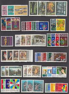 Liechtenstein-Sc-691-786-MNH-1980-1984-issues-16-complete-sets-VF