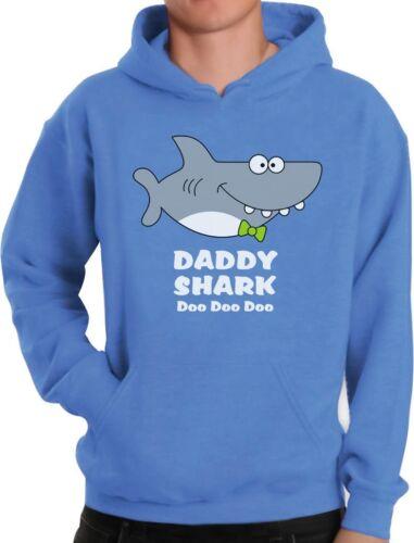 Daddy Shark Doo doo doo Funny Father Day Gift For Dad Hoodie Ocean Beach Summer