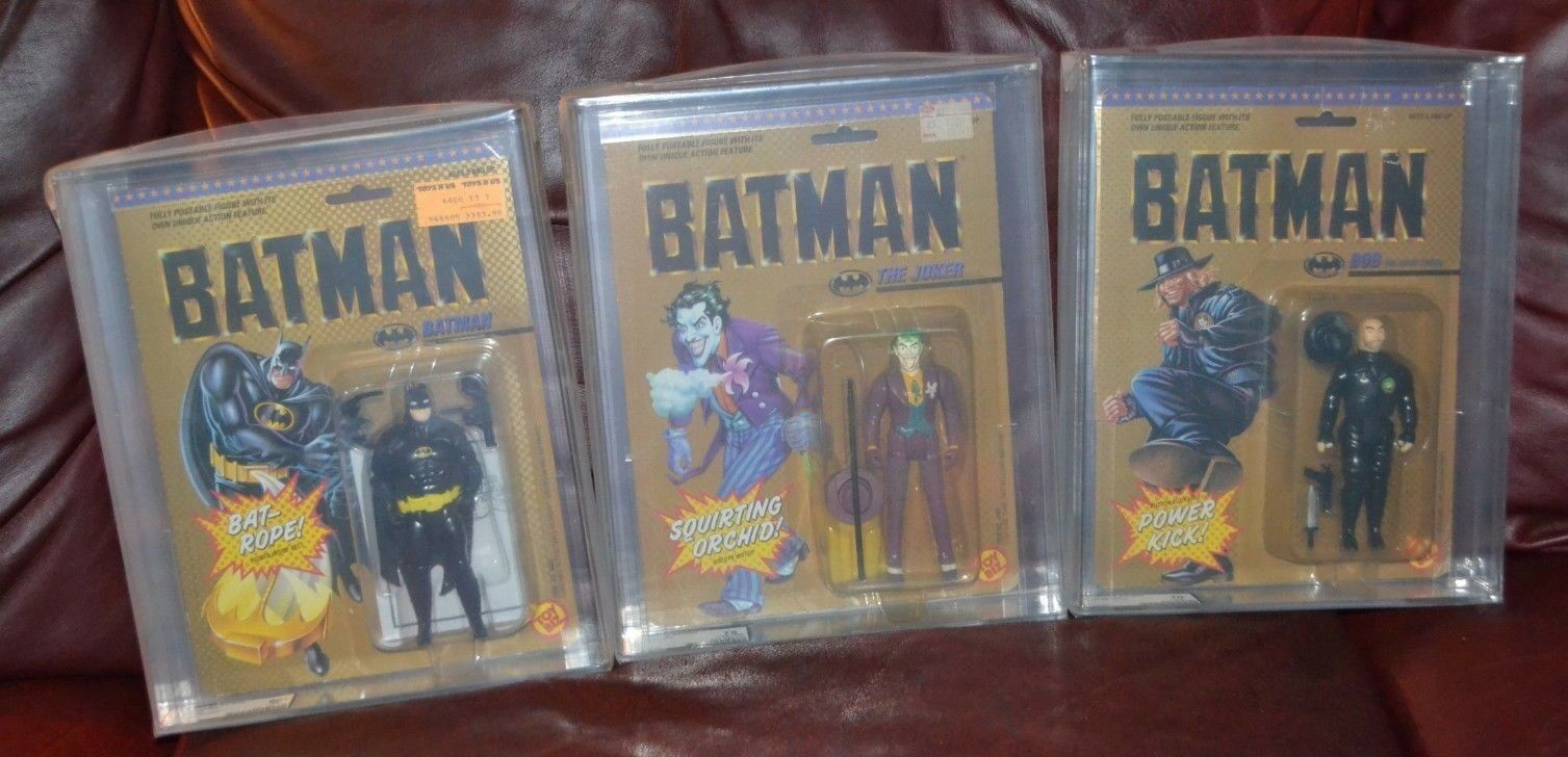 Batman Joker AFA graded SET OF THREE figures.  Movie series.