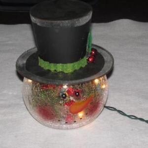 93f43d6774128 Image is loading New-Electric-Crackle-Glass-Light-Up-Snowman-Head-