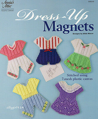 """DRESS UP MAGNETS""~Annie's Attic Plastic Canvas PATTERN INSTRUCTIONS ONLY~NEW"