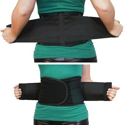 Double Pull Magnetic Lumbar Lower Back Support Belt Brace Pain Relief 5 Sizes US