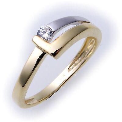 Damen Ring Gold 333 Zirkonia teilrhod. Gelbgold Qualität 8kt
