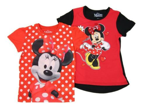 COLORS /& STYLES NEW GIRLS CHARACTER 2 PACK GRAPHIC TEE SHIRTS VARIETY SIZES