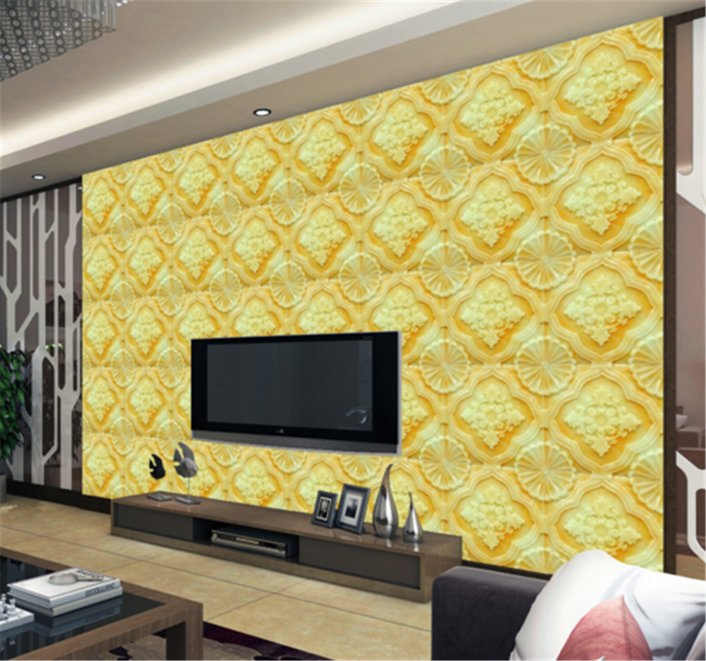 3D Gelb Pattern 889 Wallpaper Mural Paper Wall Print Wallpaper Murals UK Carly