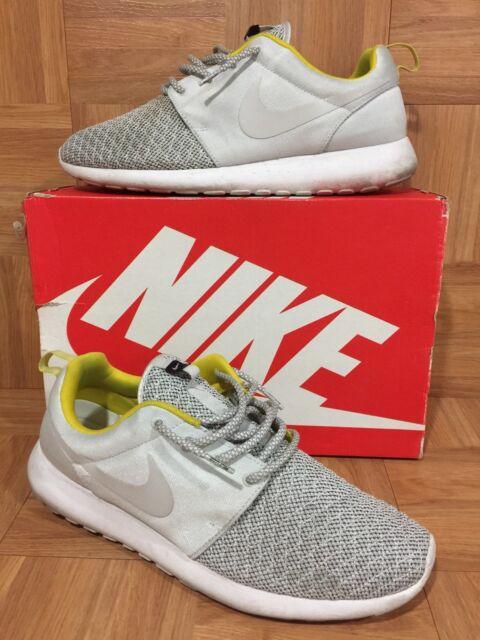 reputable site f1beb 97201 RARE🔥 Nike Roshe Run Premium Base Gray Quilt Citron Sz 12 525234-008 Worn