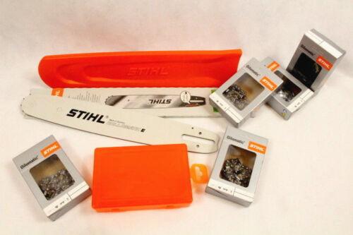 Box protección 5 cadenas semi Stihl set raíl guía 3005 000 4713 40cm 1,6 .325