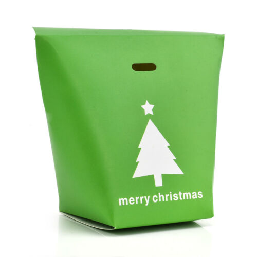 2//5//10X Christmas Paper Gift Candy Bag Carrier Xmas Present Cookies Boxes