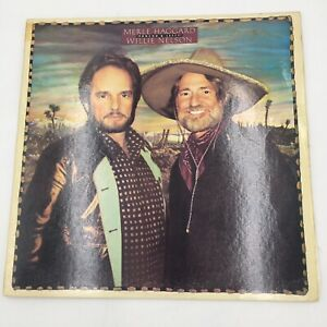 1982 MERLE HAGGARD and  WiLLiE NELSON Vinyl Record Album PONCHO & LEFTY