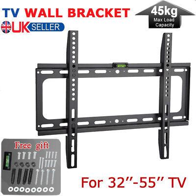 TV Wall Bracket Mount Tilt For 26 30 32 37 40 42 44 47 55 Inch 3D LCD LED Plasma