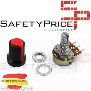 Embellecedor-boton-rojo-Potenciometro-B5K-lineal-5k-Arduino-knob-16mm